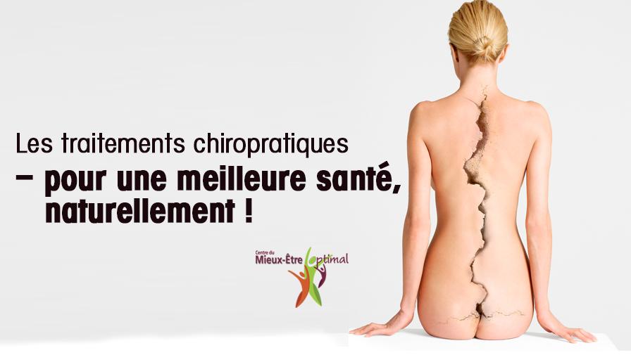 Les traitements chiropratiques – pour une meilleure santé, naturellement !
